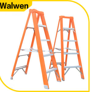 Hot Selling China Supplier Insulation Foldable Fiberglass Step Ladder a Frame Stairs pictures & photos