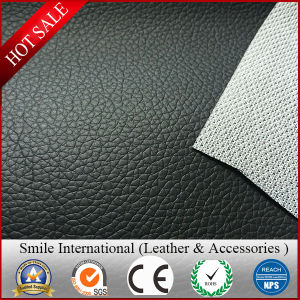 Mesh Backing PVC Leather Lichi Design Classic and Hot Sales Thickness in 0.7-1.2mm Factory Manufacture pictures & photos