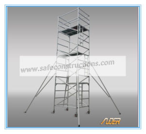 Safe Ce Passed Aluminum Scaffolding Tower for Decoration pictures & photos