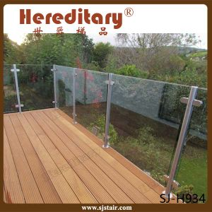 Stainless Steel Balcony Glass Balustrade Fence, Stainless Steel Post Stair Glass Railing (SJ-S341) pictures & photos