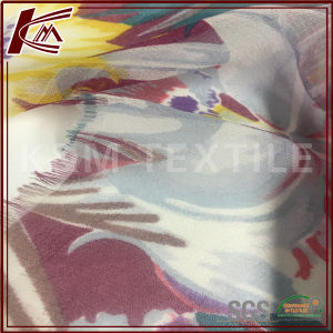 Pure Silk Fabric Printed Georgette Fabric for Garment pictures & photos