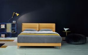 Bedroom Furniture New Elegant Design Modern Leather Bed (HC873) pictures & photos