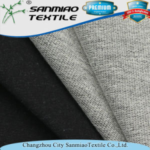 Eco-Friendly Black 330GSM Knitting Knitted Denim Terry Fabric for Pants pictures & photos