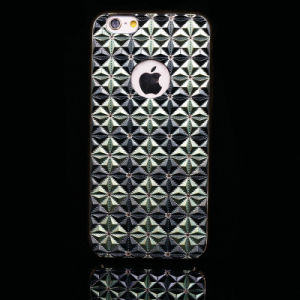 fashion Reflective Triangle Texture Phone Case for iPhone
