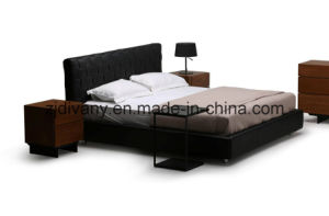 2016 Fashion Style Bedroom Wooden Leather Bed (A-B41) pictures & photos