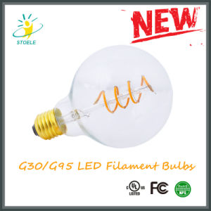 G30/G95 Soft Filament LED Bulb UL Listed COB Light Bulb pictures & photos