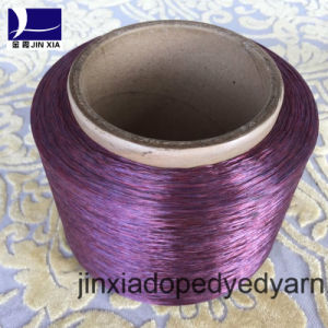 FDY Dope Dyed 500d/192f Filament Polyester Yarn pictures & photos