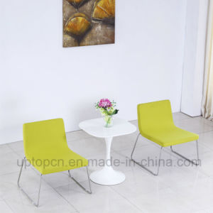 Elegant White Square Table and Stainless Steel Upholstered Chair for Hotel Bedroom (SP-CT844) pictures & photos