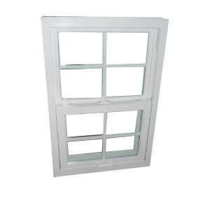 French Aluminum Style Double Hung Awning Single Glazed Window pictures & photos