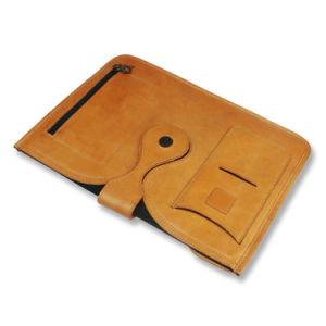 Genuine Leather Tablet Case Cover Business Envelope Clutch File Holder pictures & photos