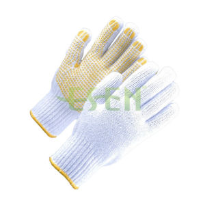 PVC Dotted Cotton Gloves, Cotton Dotted Gloves, Dotted Gloves pictures & photos