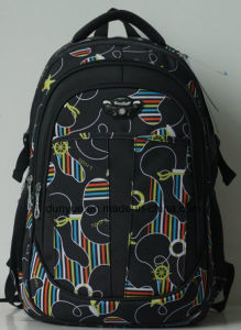 Factory Make Multi-Functional 600d/1680d Nylon Notebook/Computer Backpack Bag, Full Printing Pattern School Travel Laptop Backpack