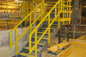 FRP Handrail/Building Material/Fiberglass Ladder/Hall Ladder pictures & photos