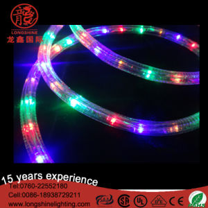 Waterproof LED 3 Wire 110V/220V 100m/Roll LED Decoratioveled Rope Strip Light pictures & photos