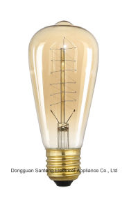 Squirrel Cage Vintage Edison Bulb St64 24 Anchors Light Bulb pictures & photos