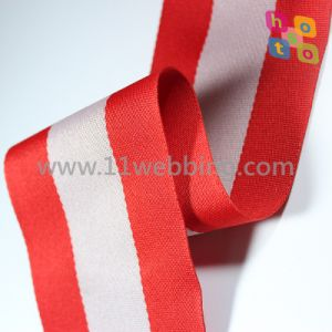Garment Accessories with Color Striped Polyester Webbing pictures & photos