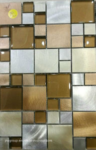 Glass Mosaic Mix with Metal Jy42k pictures & photos