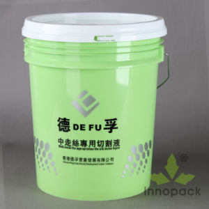 Deep Green Color 5 Gallon Plastic Bucket with Metal Handles and Lids with Sealing Strip pictures & photos