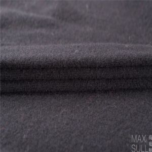 Yark Hair and Wool Fabric with Knitted for Winter in Black pictures & photos