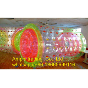 Ce 1.00mm PVC/TPU Commercial Inflatable Water Roller, Water Filled Lawn Roller, Roll Inside Inflatable Ball