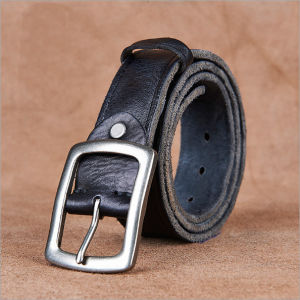 High Quality Cow Natural Leather Belt pictures & photos