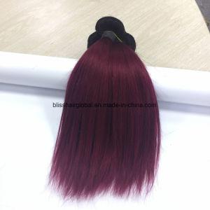 99j Color Brazilian Virgin Two Tone Color Human Hair Weave pictures & photos