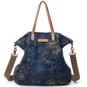 Printed Canvas Shoulder Bags Handbags with Azo Free Dyes for Women Girls pictures & photos
