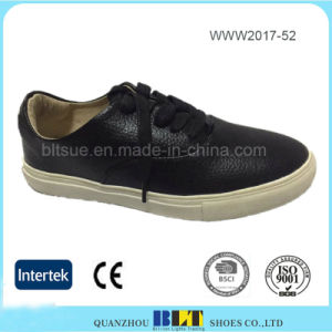Soft Leather Upper and Textile Lining High Quality Women Shoes pictures & photos
