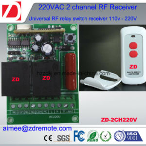 2channel 500m RF Remote Control Switch 220V / 12V/ 24V pictures & photos