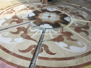 Round Marble Water Jet Medallion pictures & photos