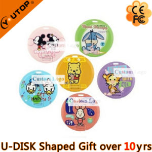 Round Pop-up Card USB Pen Drive as Christmas Gifts (YT-3108) pictures & photos