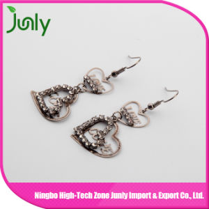 Hanging Thread Earrings Double Heart Latest Fashion Earrings pictures & photos
