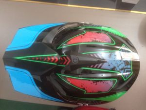Black Motor Helmet Motocross Helmet pictures & photos
