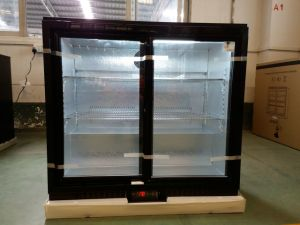 210L Double Sliding Door Beer Cooler Back Bar Chiller From Apex Refrigeration pictures & photos