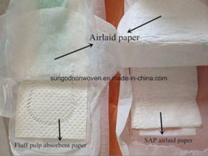 Supper Absorbent Airlaid Paper for Absorbent Core of Diaper pictures & photos