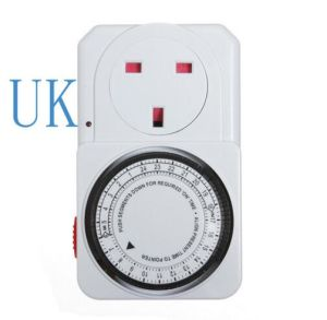 24 Hour Programmable Mechanical Electrical Plug Program Timer Power Switch pictures & photos