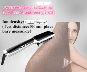 Professional Tourmaline Ceramic Coating Negative Ion Hair Straightening Brush pictures & photos