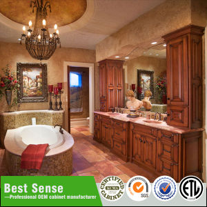 Oak Wood Customized Wooden Bathroom Cabinet pictures & photos