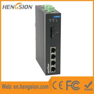 5 Megabit Port Fiber Industrial Ethernet Network Switch pictures & photos
