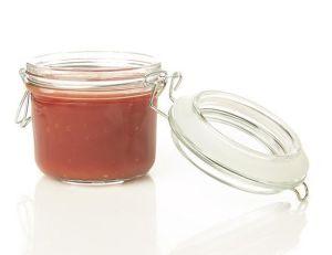 200ml Glass Storage Jar, Glass Jam Jar with Buckle, Mini Glass Food Jar! pictures & photos