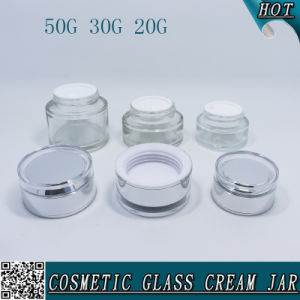 50ml 1 Oz 20ml Clear Empty Glass Cream Jar Price pictures & photos
