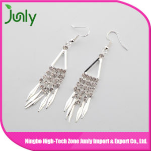 Fancy Design Hanging Earrings Big J Shaped Earrings
