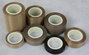 PTFE Coated Fiberglass Adhesive Tape with Release Pape pictures & photos