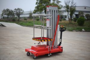 6-9m Single Mast Aluminum Aerial Work Platform with CE Certificate pictures & photos