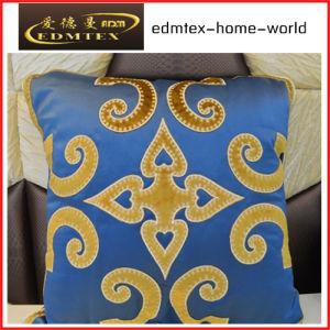 Embroidery Decorative Cushion Fashion Velvet Pillow (EDM0337) pictures & photos