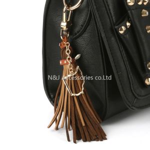 State of Ohio Charm Faux Leather Tassel Key Chain Ornament Gift pictures & photos