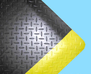 PVC Rubber Antislip Yellow Black Cleanroom Mat pictures & photos