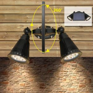 Waterproof 360 Angle Adjustable Outdoor Solar LED Wall Lamp pictures & photos