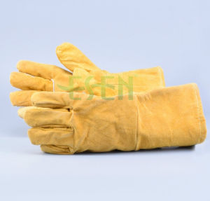 Hot Sell High Quality Cow Split Leather Working Hand Glove/Working Leather Glove pictures & photos