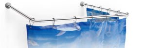 Stainless Steel U Shape Shower Curtain Rod (HM8426) pictures & photos